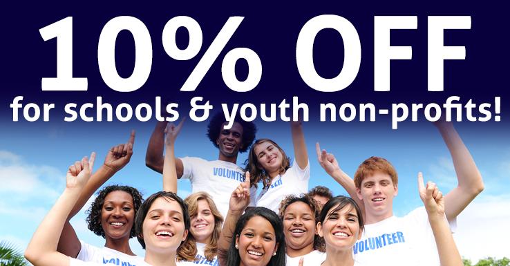 10% Off for Schools & Nonprofits